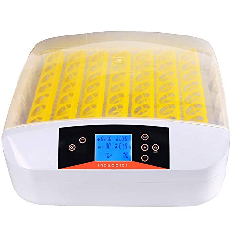 HMAMERÂ Eggs Incubator, 56 Digital Incubator LED Temperature Control Automatic Egg Turning with Built-in LED Candler for Chickens Ducks Goose ()