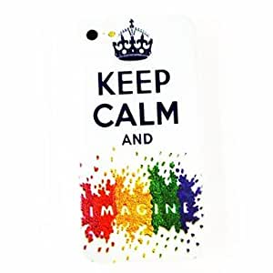 Keep Calm Crown Pattern TPU Soft Case for iPhone 5/5S , Multicolor