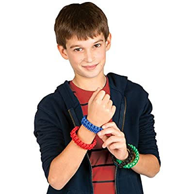 Creativity for Kids Make Your Own Paracord Wristbands - Makes 8 Bracelets: Toys & Games