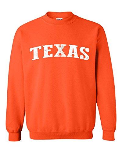 Ugo TX Texas Flag Houston Map Longhorns Bobcats Home Texas State University Unisex Crewneck (Cool Crew Jacket)