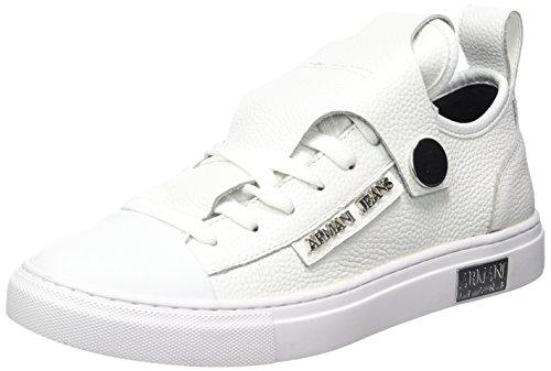 Bassa offwhite Mujer Para Zapatillas Armani Sneaker 41610 Blanco pOw5CWgqxY