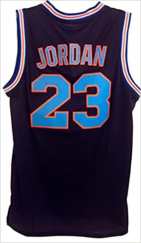196e834efb6 Amazon.com: Michael Jordan Space Basketball Jam Jersey - #23 Tune Squad -  Black (8121336898313): Books