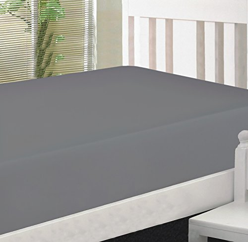 Crescent Bedding Full Micro Fiber Fitted sheet - Soft and Comfy - By Grey Full by Crescent Bedding