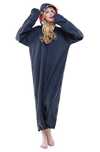 Halloween Unisex Adult Cosplay Pajamas OnePiece Pyjamas Costume (S, Shark)