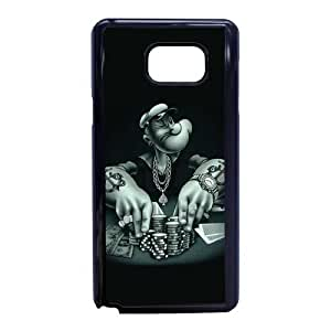 Popeye the sailor 2 U5O9TQ8K Caso funda Samsung Galaxy Note 5 Caso funda Negro