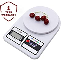 MobiBlast Electronic Kitchen Digital Weighing Scale Measure for Measuring Fruits,Spice,Food,Vegetable and More (10 Kg) - White (1 Year Warranty)