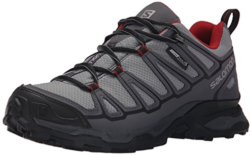 Pearl Grey Footwear (Salomon Men's X Ultra Prime CS WP Hiking Shoe, Pearl Grey/Dark Cloud/Flea, 13 D)