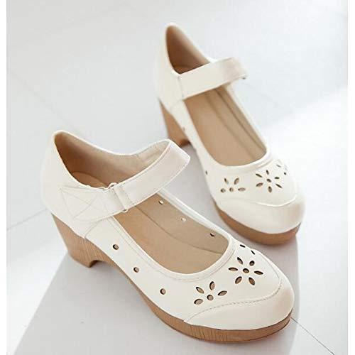 PU Marrón Low de Heel ZHZNVX Comfort Spring Zapatos Rojo Negro Brown Mujer Poliuretano Heels qZxRwHT1