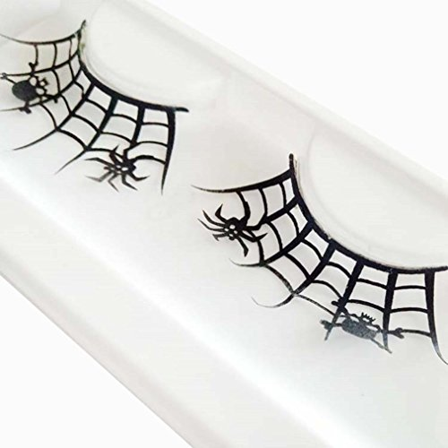Franterd False Eyelashes - Skull Spider - A pair Halloween Party Makeup Arts Eye Lashes