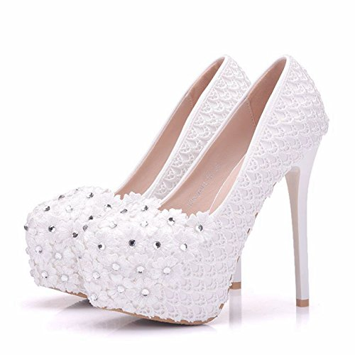 White Minitoo femme Plateforme Heel 14cm z88Uxr