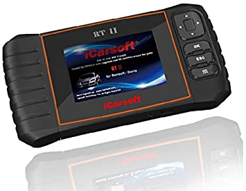 iCarsoft RT II i907 V2 OBD2 Dispositivo de diagnóstico para Renault y Dacia, con función Service Reset, ETB: Amazon.es: Electrónica