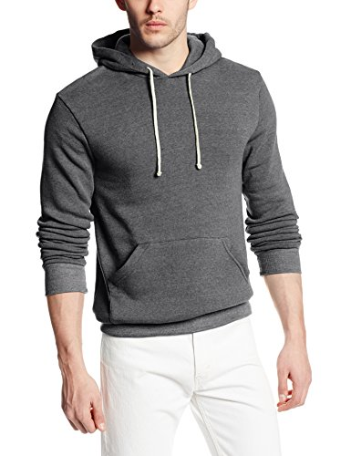 Alternative Men's Challenger Hoodie Sweatshirt, Eco Grey, Large
