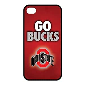 NCAA Ohio State Buckeyes Logo for Iphone4/4s Best Rubber Cover Case-Creative New Life