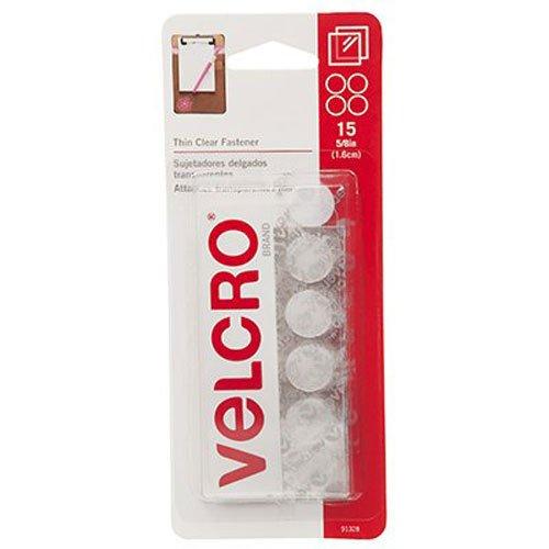 VELCRO Brand Sticky Coins Pkg Clear