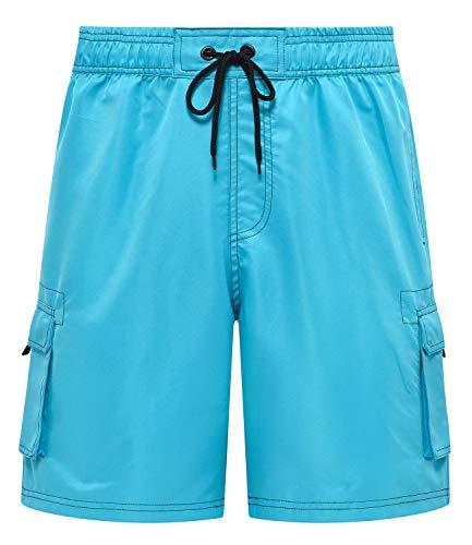 (Tyhengta Mens Board Shorts Quick Dry Swim Trunks Swimwear with Mesh Lining Lightblue 40)