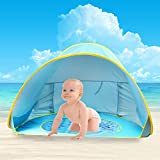 Baby Beach Tent,Oummit Pop Up Baby Tent with Small Beach Pool,Automatic Foldable Portable Baby Sun Shelter with Sun Protection Anti UV Very Suitable for Beach Holidays
