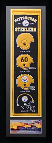 (NFL Pittsburgh Steelers Legends Never Die Team Heritage Banner with Photo, Team Colors, 15