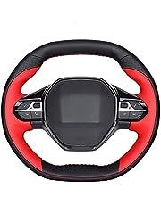 Zwart stuurhoes microfiber leer, Fit Voor Peugeot 3008 4008 5008 2016 tot 2019 508 208 2019 2020 e 208 Rifter antislip,ademend