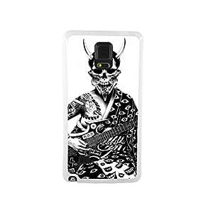 CaseCityLiu - Guitar Skull Japanese Alternative Comics Pattern White Bumper Plastic+TPU Case Cover for Samsung Galaxy Note4