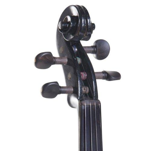 Cecilio 4/4CEVN-2BK Solid Wood Electric/Silent Violin with Ebony...