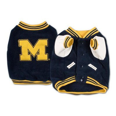 Sporty K9 Michigan Varsity Dog Jacket II, X-Large Michigan Dog Pet Varsity Jacket