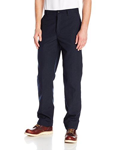 Bulwark Flame Resistant 6 oz Nomex IIIA Mens Work Pant with Button Closure, Navy, 44 Waist and 32 Inseam