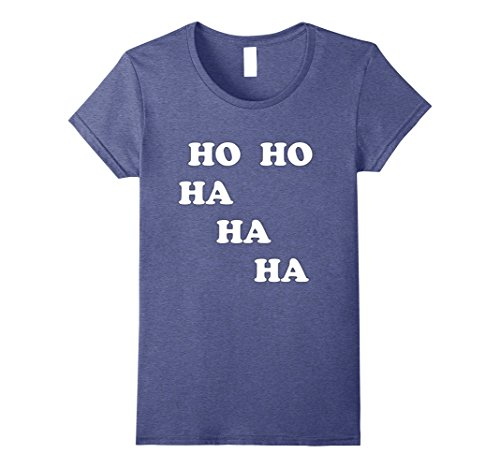 Womens HO HO HA HA HA Laughter Yoga Tee Shirt Students Teachers Medium Heather Blue