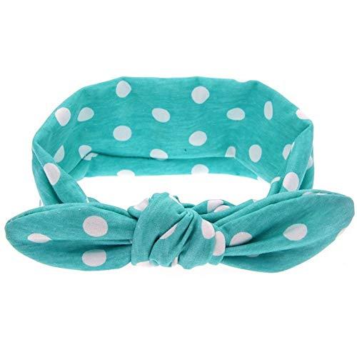 VT BigHome Creative Girls Dot Print Floral Headbands Hair Accessories Rabbit Ears Elastic Hair Bands
