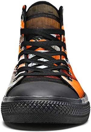 TIZORAX Zucche Vendite Alta Top Sneakers per le Donne Teen Gilrs Moda Pizzo Scarpe di Tela Casual Scuola Walking Scarpa