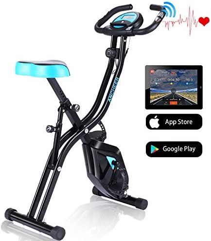 ANCHEER APP Control Folding Exercise Bike