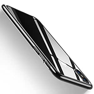 iPhone X Case, HUMIXX Thin Sleek Fully Protective (Naked Phone Texture) Matt Finish Hard Case Cover for iPhone X[Skin Series] (Transparent)