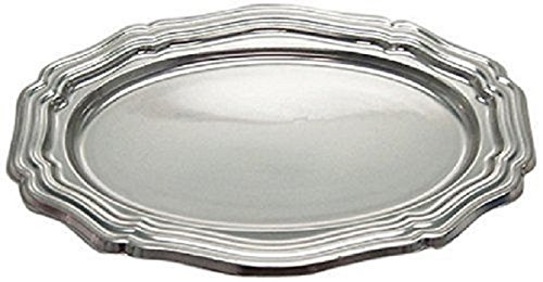 5ct Silver Plastic Serving Trays Disposable 10 1/2