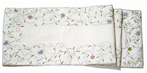 Arcadia Home RS-0604IL Silk Table Runner, Ivory by Arcadia Home (Image #1)