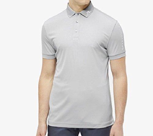 J Lindeberg Golf Pants - J.Lindeberg Men's Tour Tech Tx Jersey Polo Shirt, Stone Grey, Large
