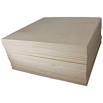 "1/8"" X 12"" X 12"" Baltic Birch Plywood Great for Laser, Cnc, and Scroll Saw. Woodpeckers"