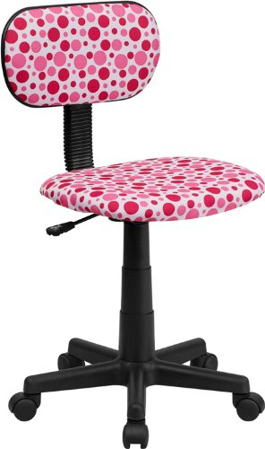 Pink Dot Printed Computer Chair