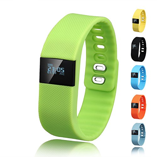 Activity Tracker,Gajozon Fitness Tracker Smart Watch Smart Band Wireless Bluetooth Sleep Monitor Wristband Running Pedometer Exercise for Android 4.3 IOS 7.0 (Green)