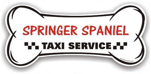 Springer Spaniel Taxi Service - magnetic bone sign