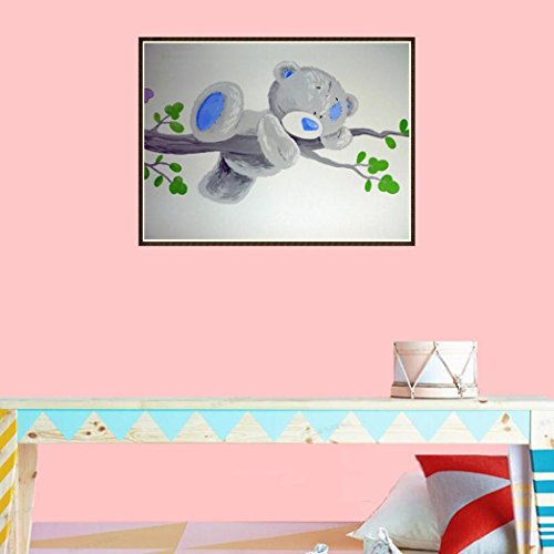 5D Diamond Picture, Vmree Teddy Bear DIY Rhinestone Embroidery Painting Crystals Pasted Handcraft Cross Stitch Handiwork Kits Visual Arts for Home Decor (Multicolor, 9.84