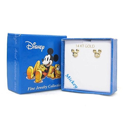 Disney Mickey 14kt Gold Mickey Mouse Girl's Stud Earrings 14kt Gold Disney Jewelry
