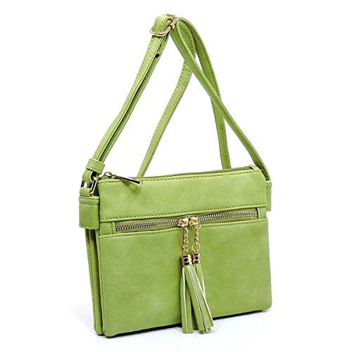 with Americana Bag Multi Lime Crossbody Tassel Compartment Pocket Zipper Z4I4Pw