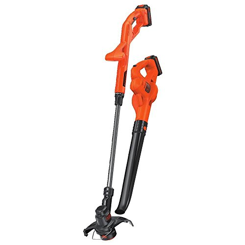 BLACK+DECKER LCC222 20V MAX Lithium String Trimmer/Edger, Sweeper Plus 2 Battery Combo Kit, 10