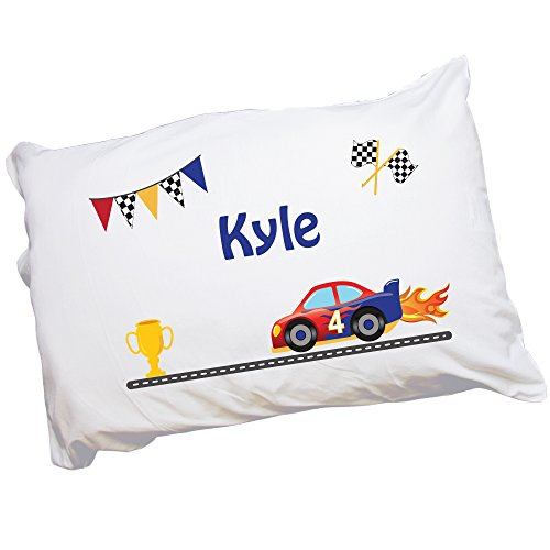 - MyBambino Personalized Race Car Pillowcase for Kids