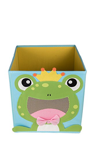 Clever Creations Cute Smiling Frog Collapsible Toy Storage Organizer Toy Box Folding Storage Cube Kids Bedroom | Perfect Size Storage Cube Books, Kids Toys, Baby Toys, Baby Clothes by Clever Creations (Image #1)