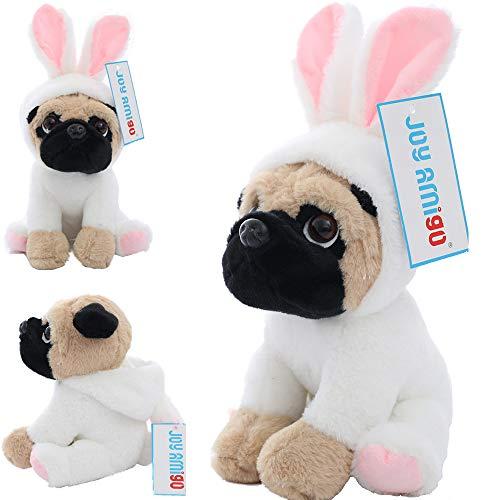 (Joy Amigo Stuffed Pug Dog Puppy Soft Cuddly Animal Toy in Costumes - Super Cute Quality Teddy Plush 10 Inch)