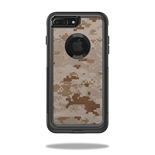 MightySkins Protective Vinyl Skin Decal Compatible with OtterBox Commuter iPhone 7 Plus Case wrap Cover Sticker Skins Desert Camo ()