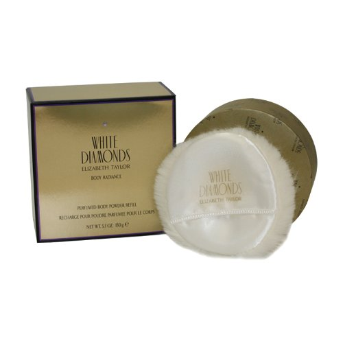 - White Diamonds By Elizabeth Taylor For Women Body Powder Refill 5.3 Oz