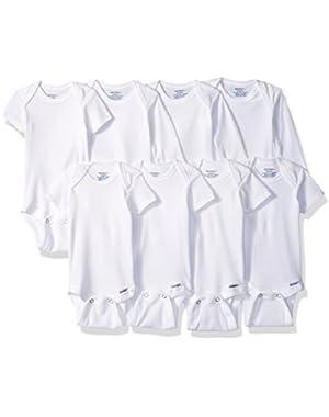 Gerber Baby 8 Pack White Onesies