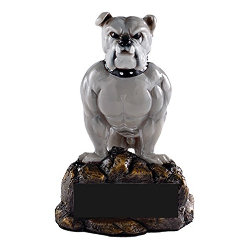 Awards and Gifts R Us Customizable Bulldog Mascot Trophy, includes Personalization