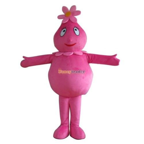 Costume Plex For Adults (Fancytrader Real Pictures Deluxe Yo Gabba Gabba Foofa Mascot Costume)